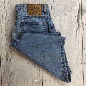 Vintage high waist denim shorts size 16